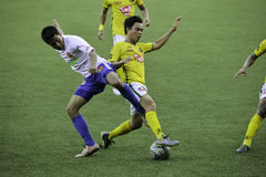 Tackle - Kaya vs Stallions - Manila Football United League Philippines Royalty Free Stock Image