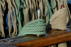 Tackle sailing ship Stock Images