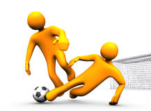 Tackle Soccer Royalty Free Stock Images
