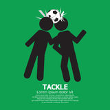 Tackle Soccer Sign Royalty Free Stock Photography