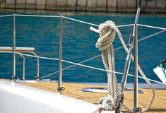 rigging yacht Stock Images