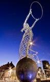 tacksägelse för belfast ireland cirkelskulptur royaltyfri foto