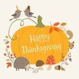 tacksägelse för illustrationer för ca-kort greeting lycklig stock illustrationer