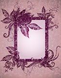 tacksägelse för leafs för höstramgrunge Royaltyfri Foto