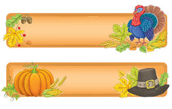 Tacksägelsebaner vektor illustrationer