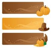 Tacksägelsebaner stock illustrationer