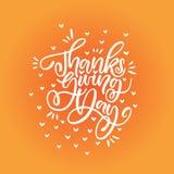 Tacksägelsedagbokstäver Arkivfoto
