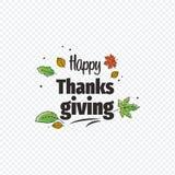 Tacksägelsedagtypografi 8 höst eps isolerade leavesvektorwhite Hand dragen lycklig tacksägelsedagbakgrund Royaltyfria Foton