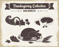 Tacksägelsedaguppsättning vektor illustrationer