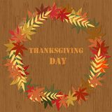 Tacksägelsedagvektor Stock Illustrationer