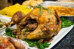 Tacksägelsefestmåltiden med kalkon och mosar potatos Royaltyfri Bild