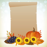 Tacksägelseparchment vektor illustrationer