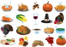 Tacksägelsesymboler stock illustrationer