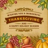 Tacksägelsetappningkort stock illustrationer