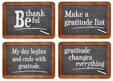 Tacksamhet ändrar allt Arkivbild
