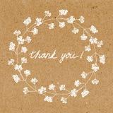 Tacksamt hälsningkort Arkivfoto
