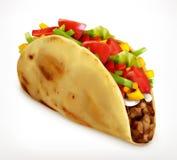 Taco, διανυσματικό εικονίδιο Στοκ φωτογραφίες με δικαίωμα ελεύθερης χρήσης