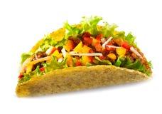 Taco με τα λαχανικά κρέατος Στοκ φωτογραφία με δικαίωμα ελεύθερης χρήσης