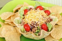 откалывает taco салата Стоковая Фотография