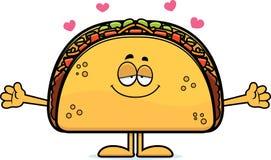 Αγκάλιασμα Taco κινούμενων σχεδίων Στοκ Φωτογραφίες