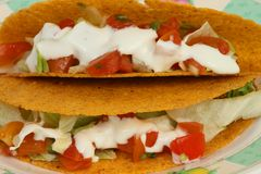 Taco. A close up photo of two tacos Stock Image