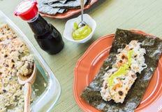 Taco asado Hawaiian del sushi imagenes de archivo