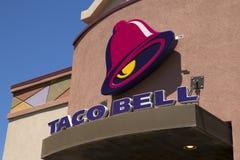 Taco Bell Fast Food Restaurant. International franchise chain fast food giant Taco Bell restaurant sign