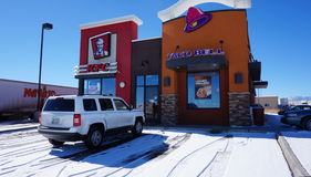 Taco Bell and KFC restaurant Royalty Free Stock Photos