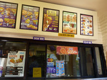 Taco Bell order counter and Menus Stock Photo