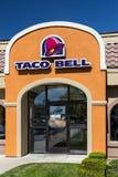 Taco Bell restaurangyttersida Arkivbild