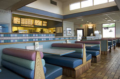 Taco Bell Restaurant. Interior of an old Taco Bell Restaurant in Seattle Royalty Free Stock Images