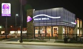 Taco Bell sent - natttimmar Royaltyfri Fotografi