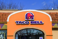 Taco Bell Sign and Logo. Willow Street, PA - January 25, 2017: Exterior of Taco Bell fast-food restaurant with sign and logo Royalty Free Stock Photography