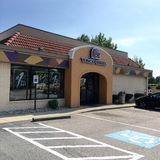 Taco Bell snabbmatlager Arkivfoto