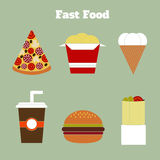 Taco, Burrito, Torte und kebab Lizenzfreie Stockbilder