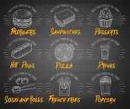 Taco, Burrito, Torte und kebab Lizenzfreies Stockbild