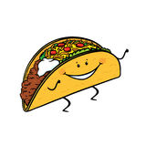 Taco cartoon Stock Images