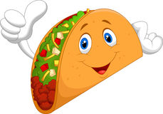 Taco cartoon giving thumb up Stock Photo
