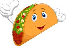 Taco cartoon giving thumb up Stock Photo