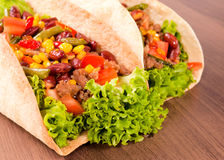 Taco close up Royalty Free Stock Photos