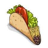 Taco, color picture Stock Images