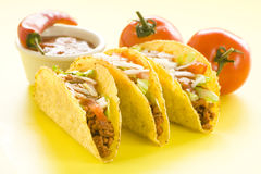 taco délicieux de Mexicain de nourriture Image stock