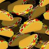 Taco 3d achtergrond Het Mexicaanse voedsel van de volumetextuur Tortillaspaanders Royalty-vrije Stock Foto's