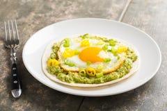 Taco de petit déjeuner Photo stock