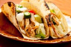 Taco de poulet Images libres de droits