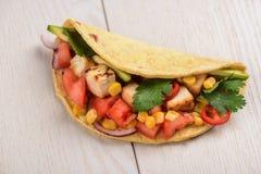 Taco de Vegan avec le tofu photos libres de droits