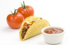 Taco delicioso, alimento mexicano imagen de archivo