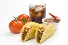 Taco delicioso, alimento mexicano imágenes de archivo libres de regalías