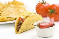 Taco delicioso, alimento mexicano fotos de stock royalty free