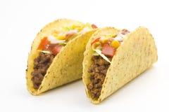 Taco delicioso, alimento mexicano Imagen de archivo libre de regalías